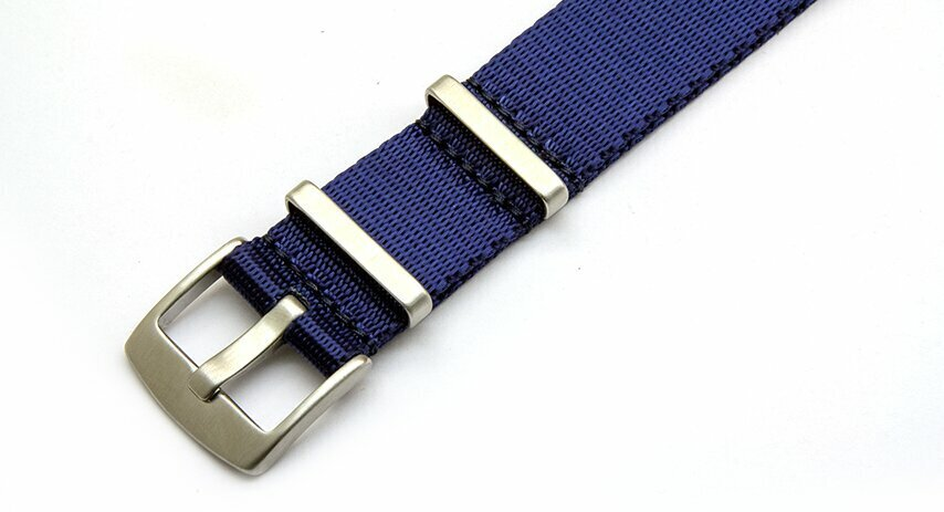 18mm Dark Blue seatbelt NATO watch strap