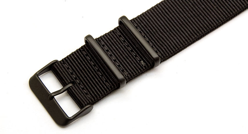 18mm Black NATO Strap - Black PVD buckles