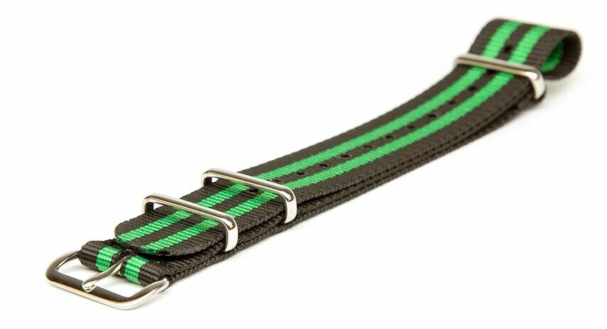 Black & Bright Green NATO strap