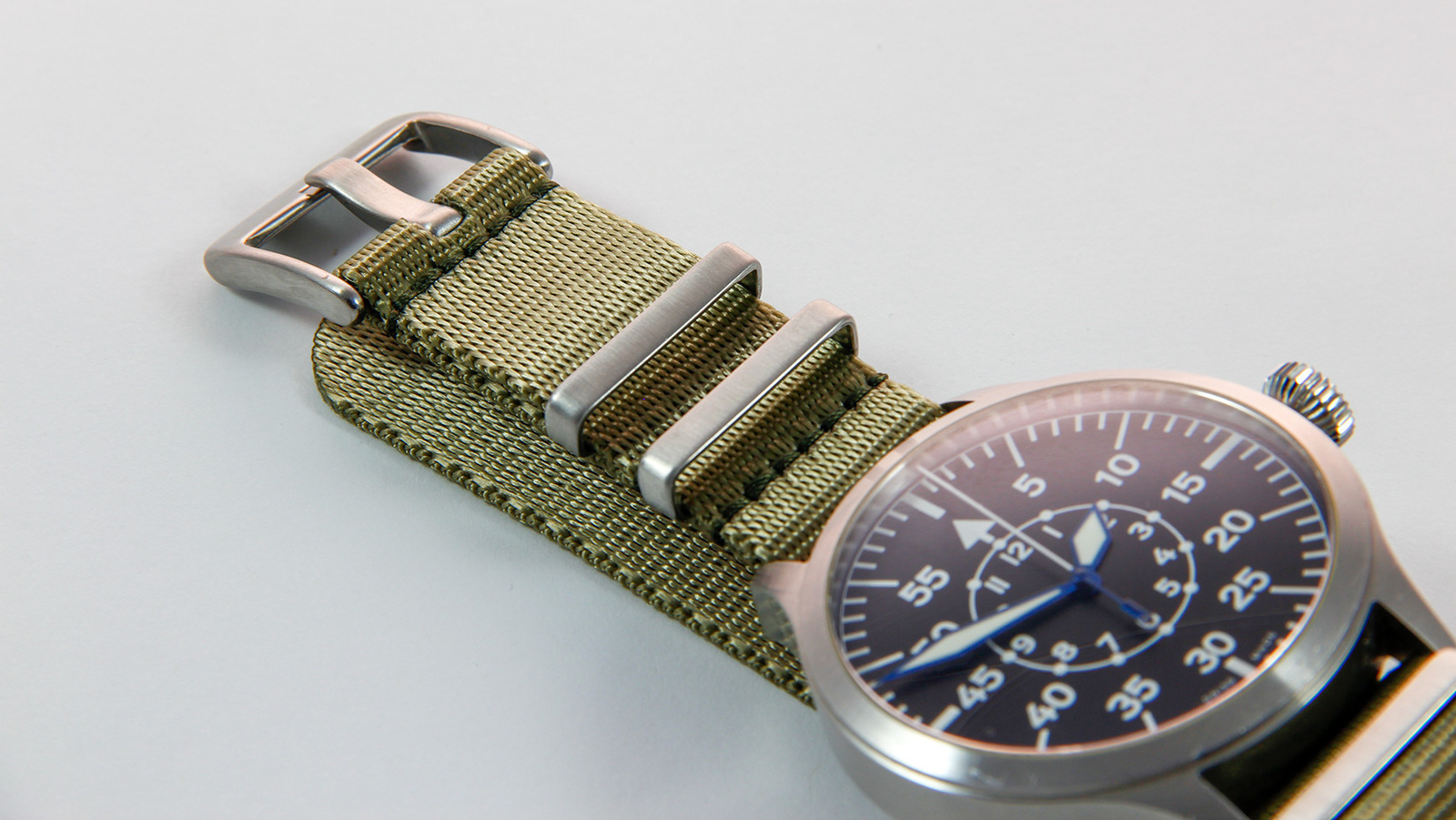 Khaki Green seatbelt NATO watch strap