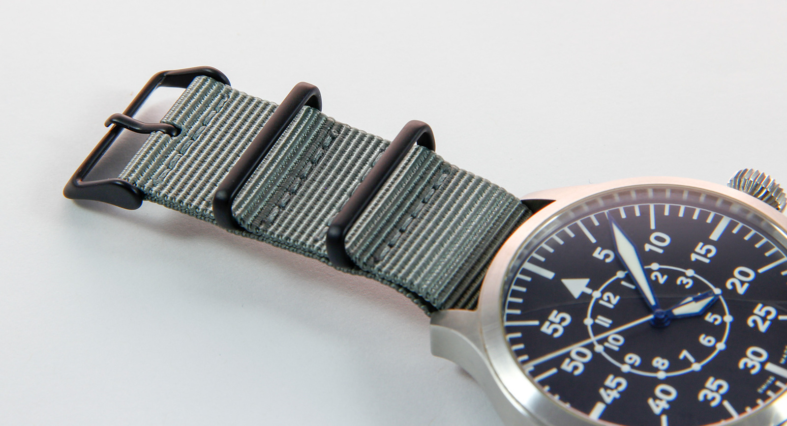 24mm Grey NATO Strap - PVD