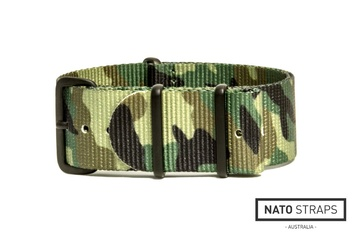 24mm Jungle green camo NATO strap
