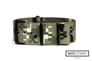 18mm Digital Green camo NATO strap