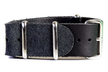 Black Leather NATO strap