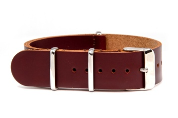 22mm Brown leather NATO strap