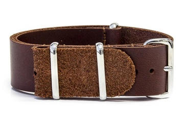 24mm Brown leather NATO strap