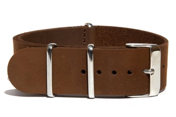 Matte Brown Leather watch strap