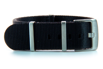 24mm Black Seatbelt NATO watch strap