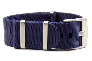 Dark Blue seatbelt NATO watch strap