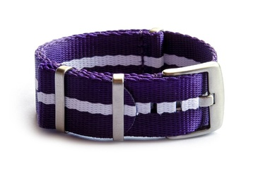 Purple & White Seatbelt NATO watch strap