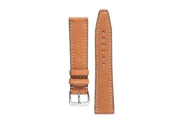 18mm Rios1931 HAVANA Genuine Pigskin Leather Watch Strap in COGNAC