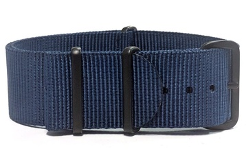 Navy blue NATO strap with black PVD Hardware