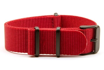 Red NATO strap with black PVD buckles