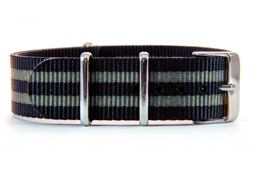 Black & Dark Grey NATO strap