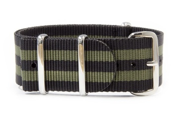 24mm Black & Green NATO strap