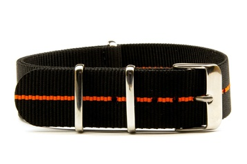20mm Black and Orange NATO strap