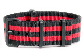 Black & Red watch strap (with black PVD buckles)