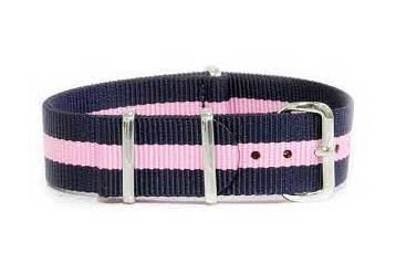 Blue and Pink watch strap