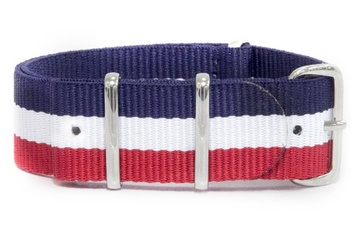 24mm French Flag NATO NATO strap