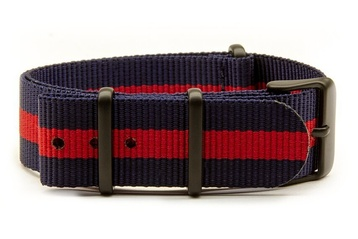 Navy & Red NATO strap (with black PVD buckles)