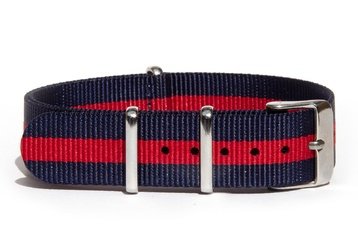 18mm Blue and red NATO strap