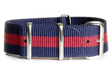 Navy blue & Red watch strap