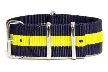Navy Blue & Yellow watch strap