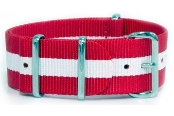 22mm Red and White NATO strap