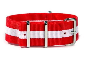 Red and White NATO strap