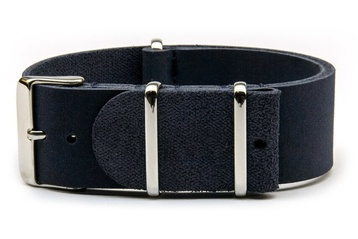 Blue leather NATO strap