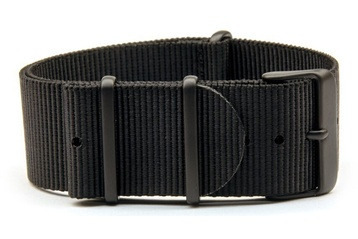 24mm Black NATO strap (extra long) with PVD buckles