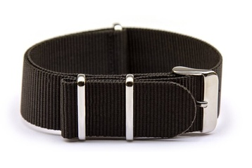Extra long black NATO watch strap