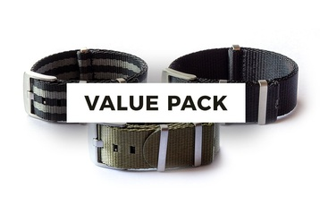 3 Pack - 22mm Seatbelt NATO pack