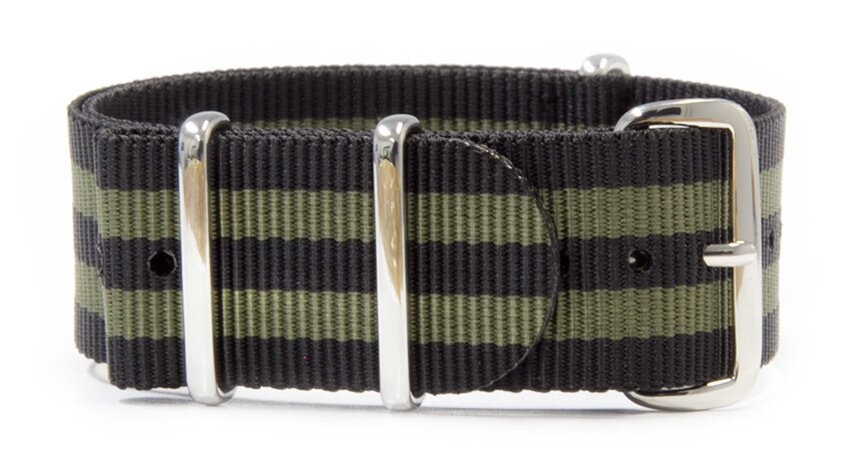 Black & Green watch strap